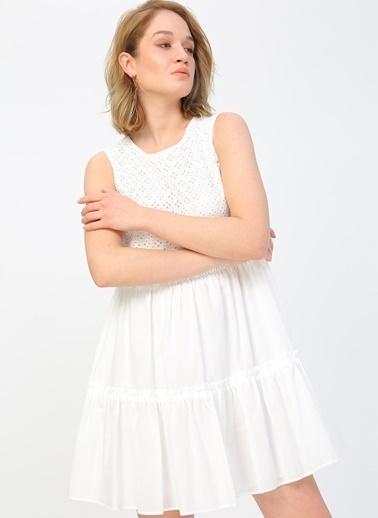 Fabrika Fabrika Beyaz Elbise Beyaz
